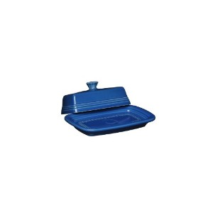 Fiesta Covered Butter Dish, X-Large, Lapis by Homer Laughlin