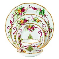 Royal Albert Old Country Roses Christmas Tree Place Setting, 5-Piece by Royal Doulton