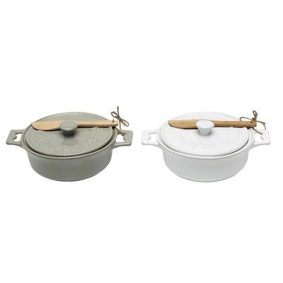 Grange Stoneware Brie Baker (Set of 2) by Creative Co-op