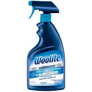 Woolite Advanced Stain & Odor Remover + Sanitize, 22floz by Bissell