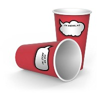 Fred & Friends CHIT CHATS Write-On Paper Cups by Fred & Friends