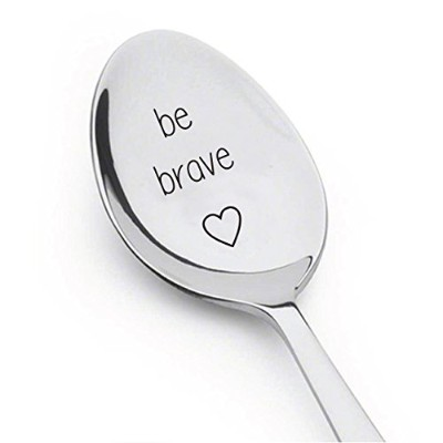 Be Braveスプーン–Inspirational–Tea Cereal–コーヒースプーンfor Coffee Lovers–Inspiringギフトスプーンギフト