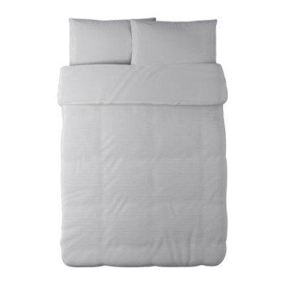 (Twin, White) - Ikea Alvine Stra Duvet Cover and Pillowcase, White, Twin