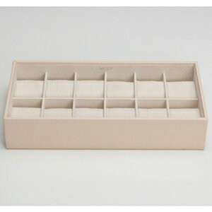309953-STACKABLE ウルフ 時計収納用トレー 蓋なし(12本収納) クリーム WOLF [309953STACKABLE]【返品種別B】
