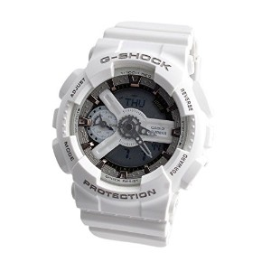 Casio G-Shock White Dial Resin Quartz Men's Watch GMAS110CM-7A2 レディース 腕時計 [並行輸入品]