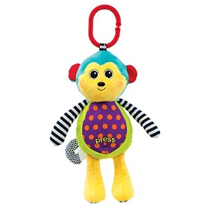 Sassy Sound and Light Attachable Monkey Toy by Sassy
