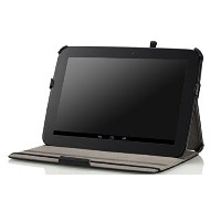 MoKo Slim-Fit Multi-angle Folio Cover Case for Google Nexus 10 Android Tablet by Samsung, BLACK -...