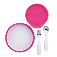 OXO Tot Feeding Set (Raspberry, 4 Pieces)