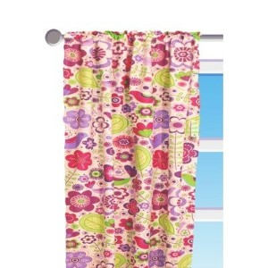 Botanical Purple Floral Curtain Panel by Bacati