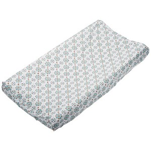 Caden Lane Modern Vintage Collection Moroccan Changing Pad Cover, Boy, Small by Caden Lane