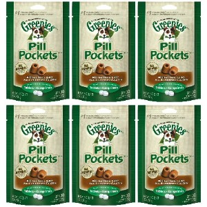 Greenies Peanut Butter Dog Pill Pockets for Tablets 1.2Lbs (6 x 3.2oz) by Greenies