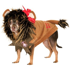 Wizard of Oz Pet Costume, X-Large, Cowardly Lion Hoodie by Rubie's