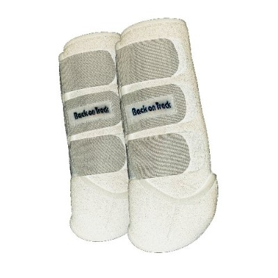 Back on Track Therapeutic Horse Exercise Boots for Hind Legs, White, Large by Back on Track