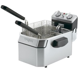 Waring Commercial WDF1000 120-volt Heavy Duty Single Electric Deep Fryer, 10-Pound by Waring