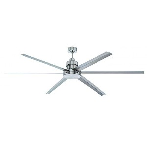 Craftmade MND72BNK6 Mondo Ceiling Fan with Brushed Nickel Blades, Brushed Polished Nickel, 72 by...