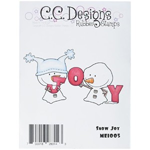 "Meoples Cling Stamp 3.75""X2.5""-Snow Joy (並行輸入品)"