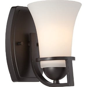 Nuvo Nuvo60/5581 Nevel 1-Light Vanity Fixture with Satin White Glass by Nuvo