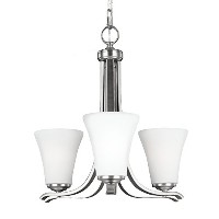 Feiss F2977/3SN 3-Light Chandelier by Feiss