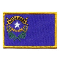 The Flag of NEVADA State PATCH, Superior Quality Iron-On / Saw-On Embroidered Patch - Each one is...