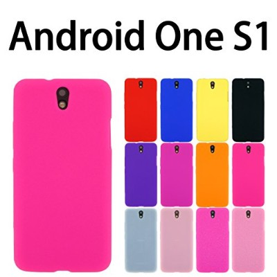 Android One S1 Ymobile 用 オリジナル シリコンケース (全12色) ピンク(蛍光) [ AndroidOneS1 アンドロイドワンS1 ケース カバー AndroidOneS1...
