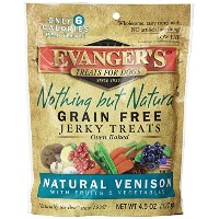 EVANGER'S Nothing But Natural Venison Dogs Pet Food Training Treats 4.5-Ounce