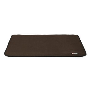 Big Shrimpy Landing Pad Dog Crate Mat, Large, Coffee Faux Suede by Big Shrimpy