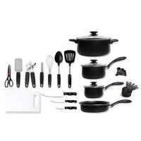 Home Total Kitchen 28-Piece Cookware and Kitchen Tool Set by Gibson
