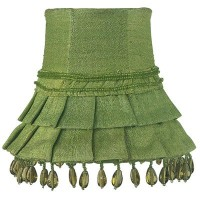 Jubilee Collection 2001 Skirt Dangle Chandelier Shade, Green by Jubilee Collection