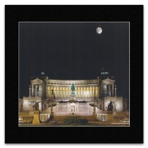 ROME - National Monument to Victor Emmanuel II Mini Poster - 27.9x28.5cm