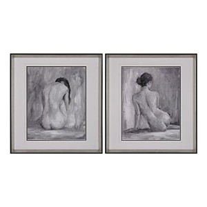 Sterling Industries 151-001/S2 I and II Fine Art Print Under Glass Figure in Black and White by...