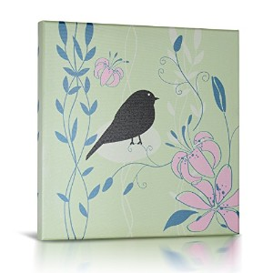 Green Frog Canvas Gallery Wrapped Art Decor, Little Birdie II by Green Frog
