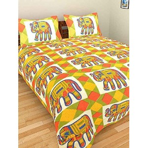Cotton King Size Bedsheet With 2 Pillow Coverr