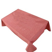 Zhhlinyuan 良質 Solid Color 家 Dining Table Cloth Simple Style Cotton Linen Tablecloth