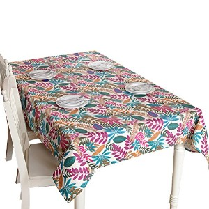Zhhlinyuan 良質 家 Waterproof Tablecloth Fashion Colored Leaves Tablecloth Decor