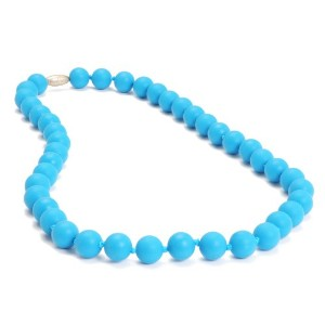 Chewbeads Jane Teething Necklace, 100% Safe Silicone - Deep Sea Blue by Chewbeads