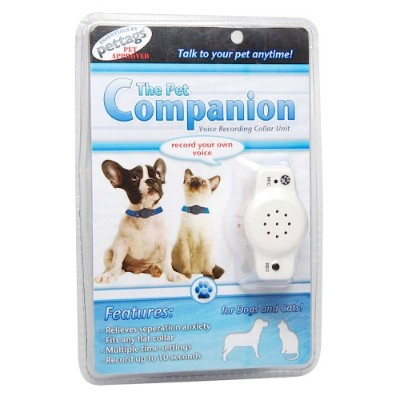 Pet Companion Voice Recording and Playback Device, One Size Fits All, White by PetTag