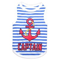 Parisian Pet Captain Dog T-Shirt, Small by Parisian Pet