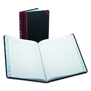 Record/Account Book, Journal Rule, Black/Red, 300 Pages, 9 5/8 x 7 5/8 (並行輸入品)