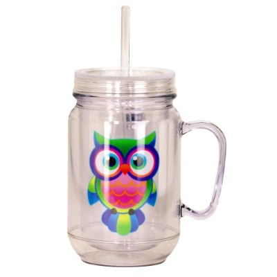 Spoontiques Owls Mason Jar, Multi Colored by Spoontiques