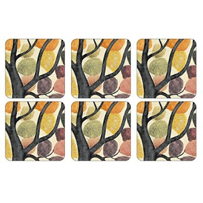 Pimpernel Dancing Branches Coasters - Set of 6 by Pimpernel