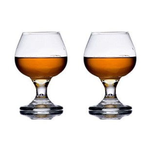 5.5 oz Brandy Glass Libbey 3702 Embassy Snifter or Cocktail Set of 2 w/ Pourer by Libbey