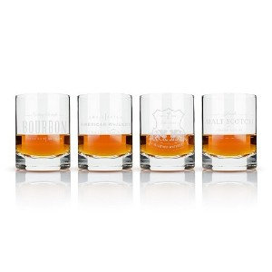 Admiral Etched Whiskey LabelクリスタルTumblers by Viski