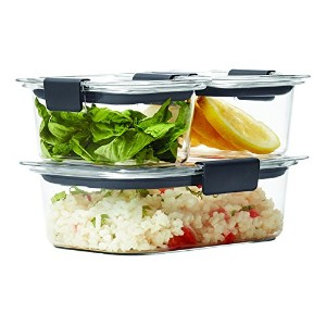 Rubbermaid Brilliance Food Storage Container, BPA-free Plastic, 6-piece Set, Clear by Rubbermaid