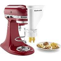 KitchenAid KSMPEXTA Gourmet Pasta Press Attachment with 6 Interchangeable Pasta Plates, White ...