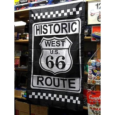ROUTE66 FLAG HISTORIC ルート66 フラッグ アメリカ雑貨 アメリカン雑貨
