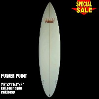 "Power Point パワーポイント サーフボード ファン 7'6"" フィン付 Funboard (A60288)サーフィン サーフボード Surfboard 未使用アウトレット特価【代引不可】"