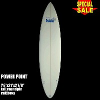 "Power Point パワーポイント サーフボード ファン 7'6"" フィン付 Funboard (A60261)サーフィン サーフボード Surfboard 未使用アウトレット特価【代引不可】"