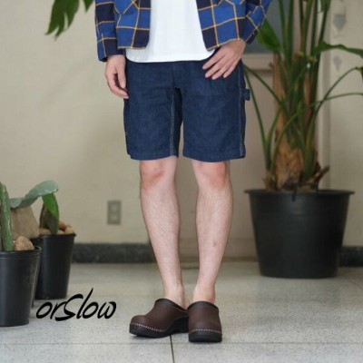orSlow(オアスロウ)/SLIM FIT PAINTER SHORTS -denim one wash-