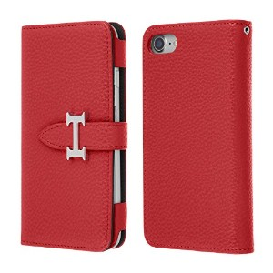 Highend berry iPhone7 iPhone8 手帳型 ケース アイフォン7 アイフォン8 H DIARY CASE レッド