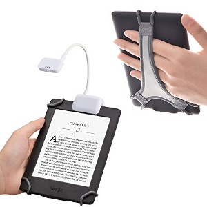 TFY Kindle電子書籍リーダー専用ライト 読書用LEDライト 読書用ライト+Kindle6寸電子書籍リーダー手持ち台, ホワイト